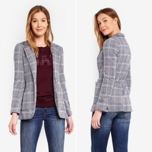 GAP Patch Pocket Grid Plaid Blazer